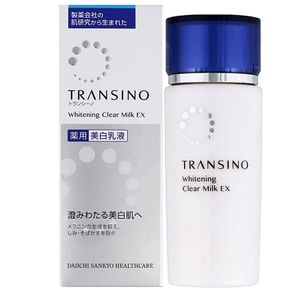 Review Transino Whitening Clear Milk trên Amazon